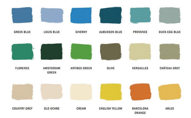 Annie Sloan Chalk Paint Colors - Harmony at Home Greenville SC